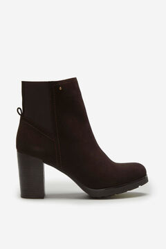 Cortefiel Casual split leather ankle boot Dark brown