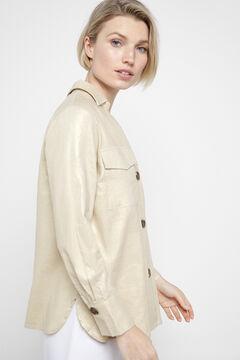Cortefiel Striped shirt Beige