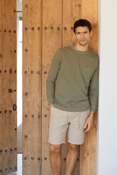 Cortefiel Long-sleeved T-shirt Green