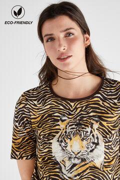 Cortefiel Camiseta algodón orgánico estampada Varios