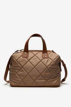 Cortefiel Padded bowling bag Brown