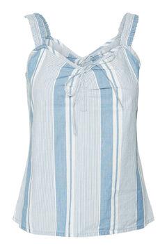 Cortefiel Organic cotton top Royal blue