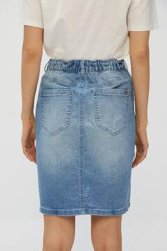Cortefiel 5-pocket midi skirt Turquoise