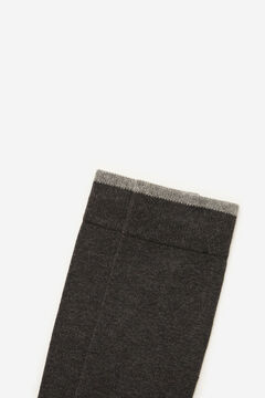 Cortefiel Plain sports socks Dark gray