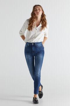 Cortefiel High rise cigarette jeans Bluejeans