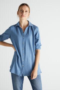 Cortefiel Comfort shirt Blue