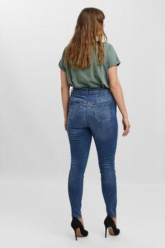 Cortefiel Jeans slim Curve Azul