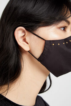 Cortefiel Face mask with studs Black