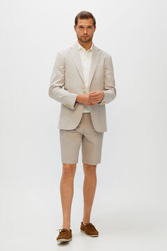 Cortefiel Structured Chino-style shorts Mink
