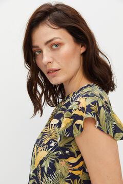 Cortefiel Flowing blouse Green