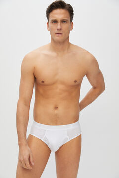 Cortefiel Essential jersey-knit briefs White