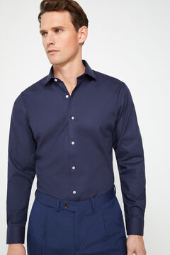 Cortefiel Slim fit stretch dress shirt Navy