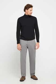 Cortefiel Classic fit winter weight chinos Gray