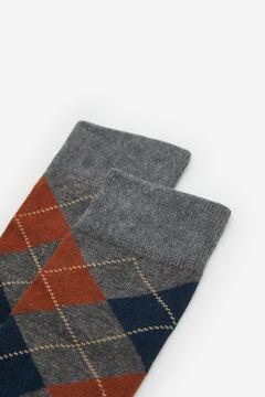 Cortefiel Diamond socks Dark gray