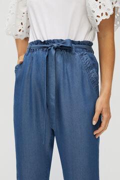 Cortefiel Flowing denim trousers 100% Lyocell Bluejeans