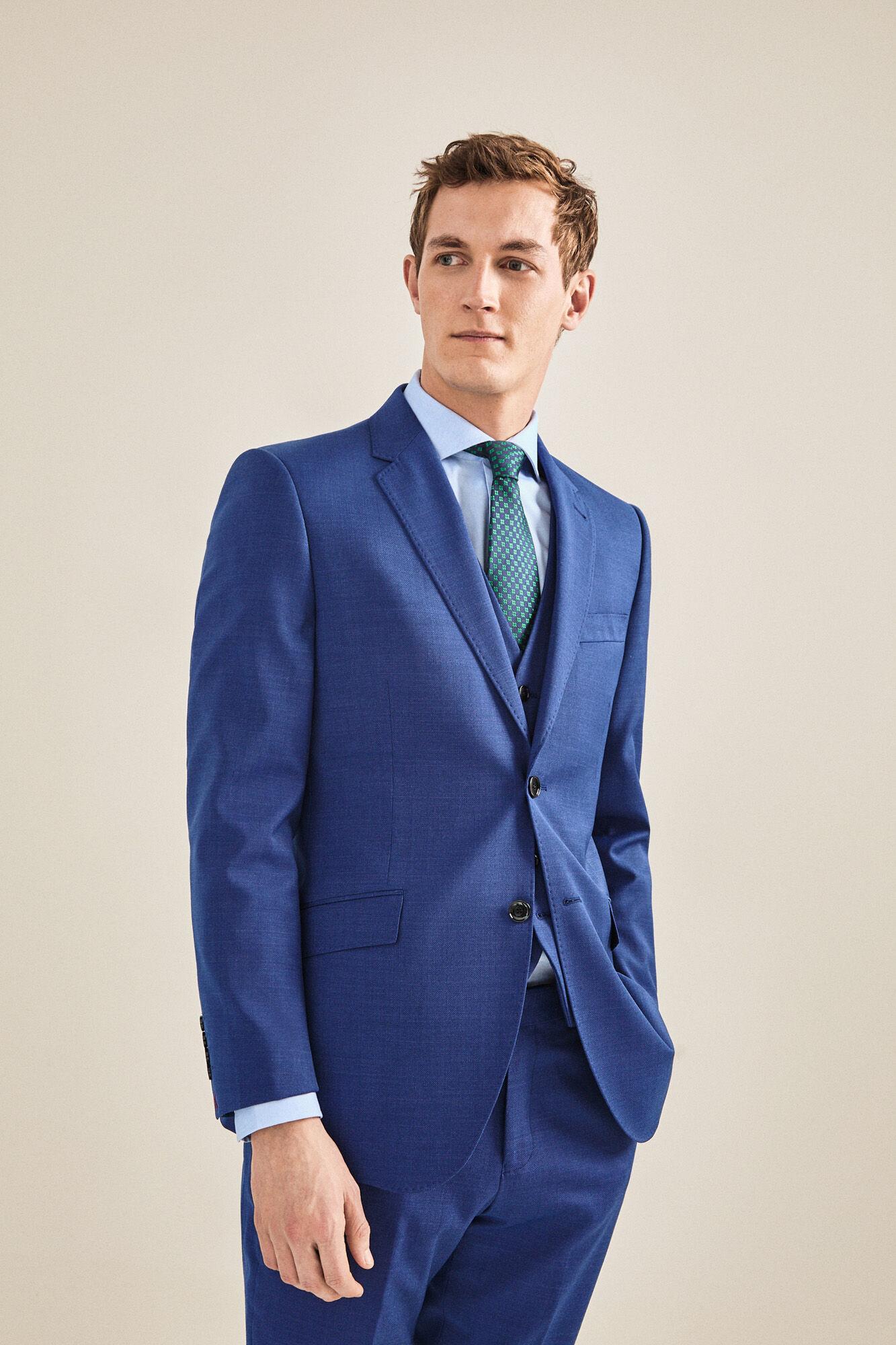 964c9dc801 Americana traje azul slim fit