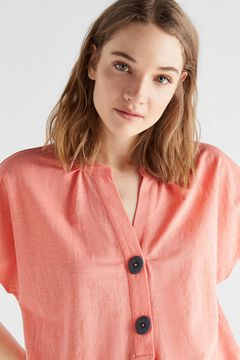 Cortefiel Comfort fabric blouse Coral