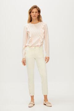 Cortefiel White skinny jeans White