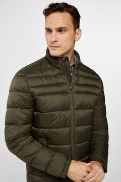Cortefiel Ultra-light quilted jacket Dark green