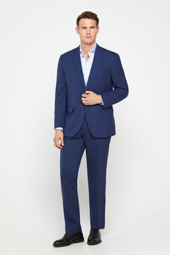 Cortefiel Blue classic fit suit blazer Turquoise