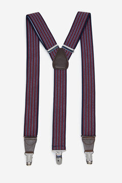Cortefiel Striped stretch braces Navy