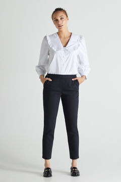 Cortefiel Trousers with elasticated back Black