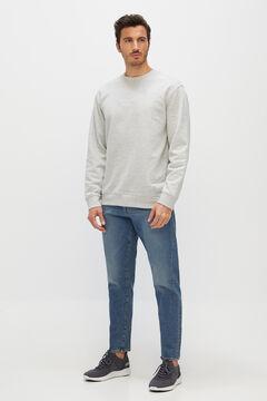 Cortefiel Slogan sweatshirt Gray