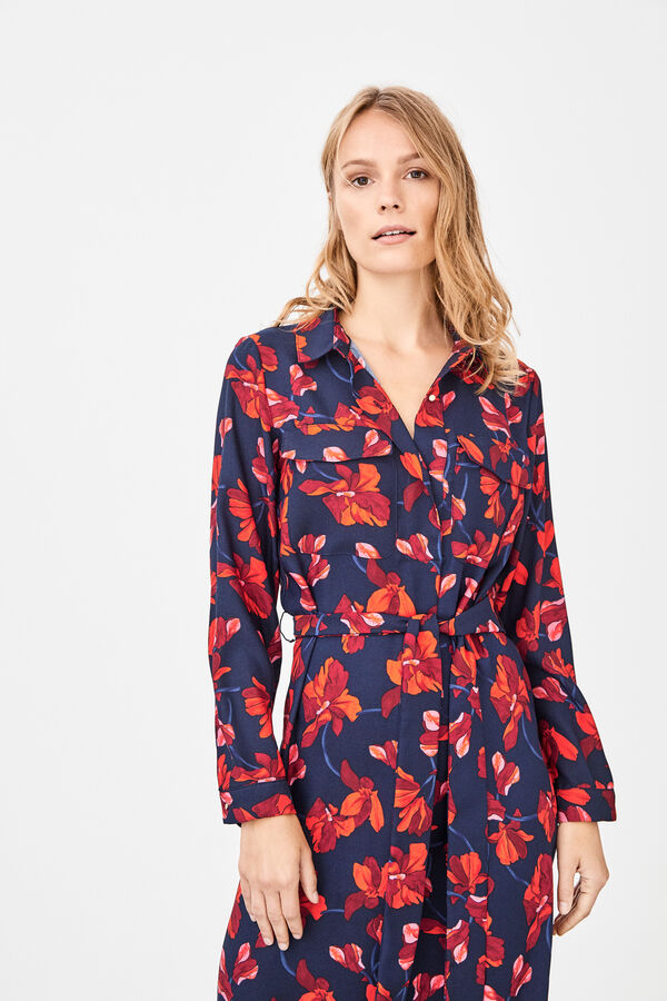 6a7483d27b5 Cortefiel Tunic shirt dress with belt Printed