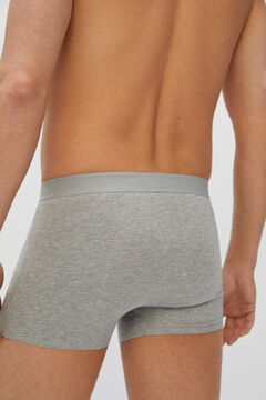 Cortefiel Essential jersey-knit boxers Dark gray