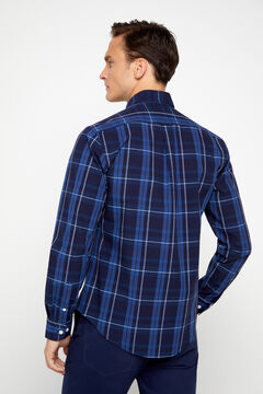 Cortefiel Checked poplin shirt Turquoise