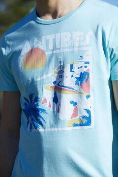 Cortefiel Camiseta estampada manga corta Burdeos