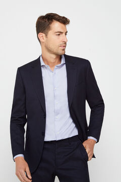 Cortefiel Navy blue slim fit suit blazer Navy