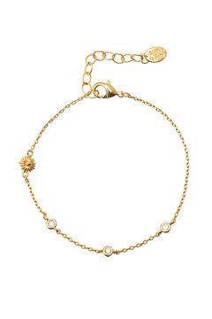 Cortefiel ALWAYS chain bracelet - Crystal - Gold Beige