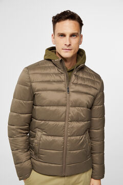 Cortefiel Ultra-light quilted jacket Stone