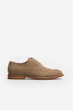 Cortefiel Lace-up rubber sole shoe Mink