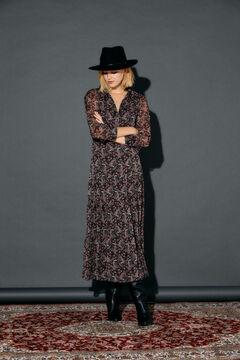 Cortefiel Printed dress Black