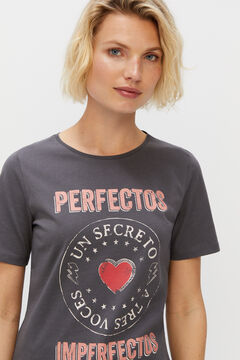 Cortefiel Camiseta Perfectos Imperfectos Gray