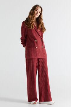 Cortefiel Jersey-knit trousers. Purpura