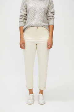 Cortefiel Slouchy fit jeans White