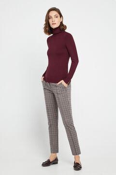 Cortefiel Jersey-knit trousers Ecru