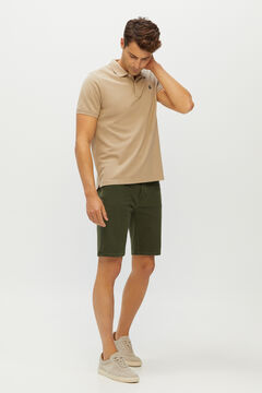 Cortefiel Denim Bermuda colour shorts 5 pockets Pistachio green