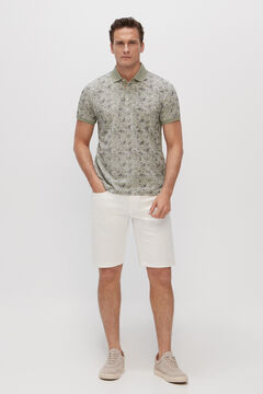 Cortefiel Short-sleeved polo shirt Green