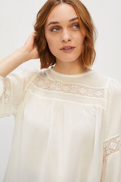 Cortefiel Flowing blouse Stone