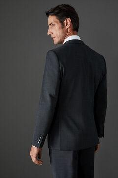 Cortefiel Grey slim fit suit blazer Dark gray