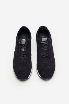 Cortefiel Rubber sole urban sneaker Navy