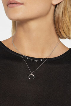 Cortefiel Short silver necklace  Gray