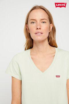 Cortefiel T-shirt Levi's® V-neck logo chest Green