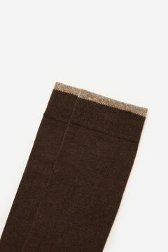 Cortefiel Plain sports socks Dark brown