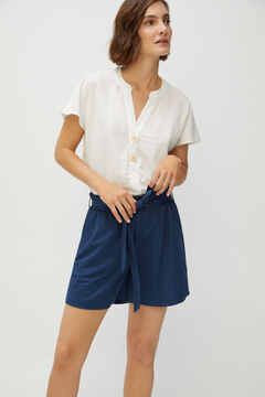 Cortefiel Belted shorts Navy