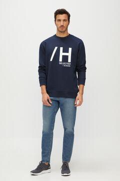 Cortefiel Sweatshirt de homem logo Azul